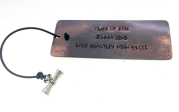 Personalized Graduation Bookmark