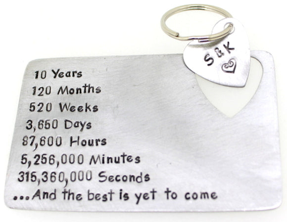 Years, Months, Days, Hours, Minutes with Key Chain- Aluminum