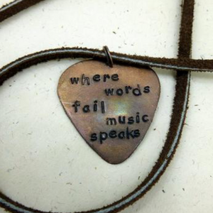 Music Speaks- Guitar Pick Necklace