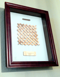 home art, wedding vows, copper, 7th anniversary gift, boyfriend gift, 10th anniversary
