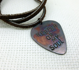 Keeper Of My Soul- Guitar Pick Necklace
