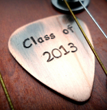Handmade Guitar Pick - Antiqued Copper