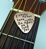 Handmade Guitar Pick - Copper