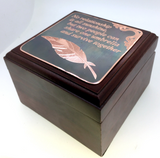 Feather Engraved Mahogany Watch Box