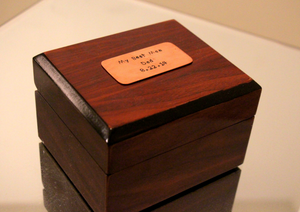 Best Man Mahogany Watch Box
