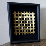 Woven Hand Stamped Wall Art - Brass