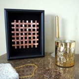 Woven Hand Stamped Wall Art -Copper