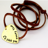 I'd Pick You- Guitar Pick Necklace
