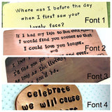 Anything You Want Bookmark- Copper