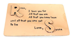 All That You Are- Copper raised initials