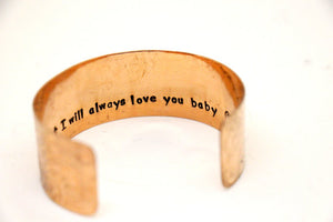 Secret Message Cuff with Design
