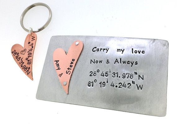 Carry My Love with key chain- Aluminum and Copper