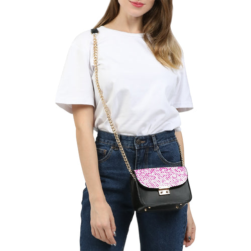 Pink Dots Small Shoulder Bag