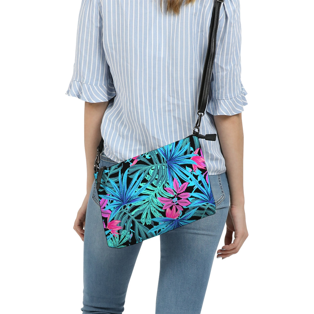 Blue Jungle Leaves Daily Zip Pouch