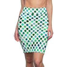 Load image into Gallery viewer, Women's Polka Dots Pencil Skirt