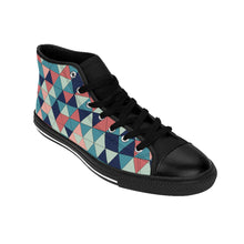 Load image into Gallery viewer, Women's Colorfull Geometric High-top Sneakers
