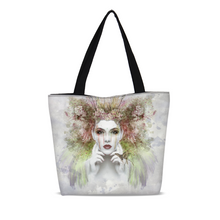 Load image into Gallery viewer, Nereid Art Portrait Canvas Zip Tote Bag
