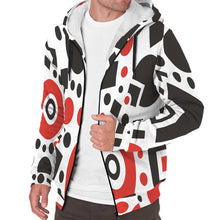 Load image into Gallery viewer, Men's Geometric shapes Sherpa Hoodie