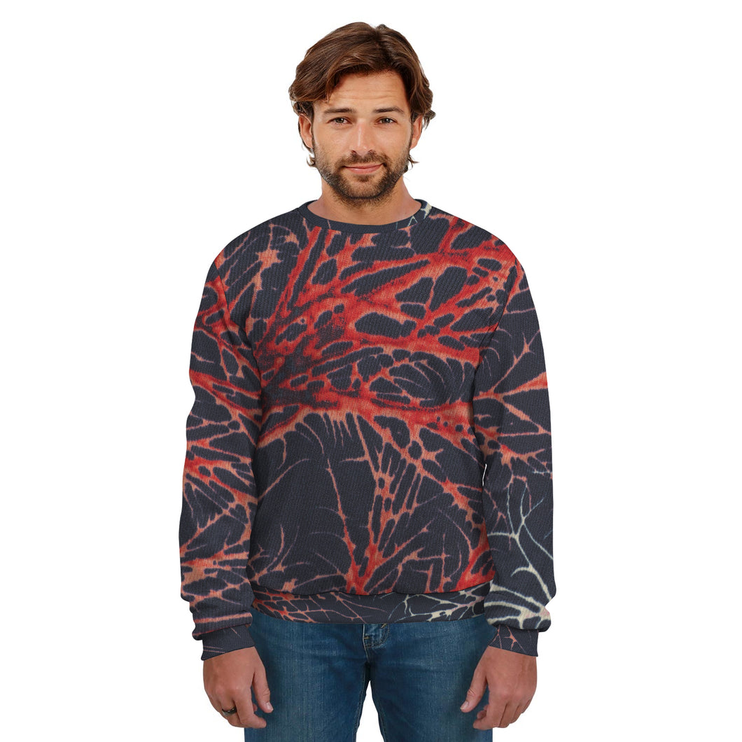 Men's Black and Red Sweatshirt