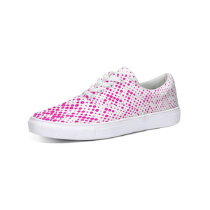 Women's Pink Lace Up Canvas Shoes