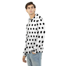 Load image into Gallery viewer, Men's Black Dots Hoodie