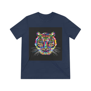 Women's Tiger Pop Art Triblend T Shirt