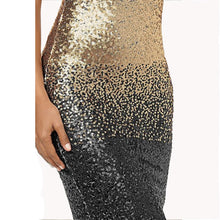 Load image into Gallery viewer, Women Sequined Backless Bodycon Knee-Length Dress - zoviana