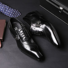 Load image into Gallery viewer, Men Genuine Leather Lace Up Brogues Oxfords - zoviana
