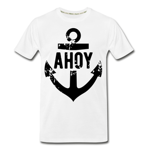 Men's Navy Anchor Premium Organic T-Shirt - zoviana