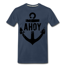 Load image into Gallery viewer, Men's Navy Anchor Premium Organic T-Shirt - zoviana