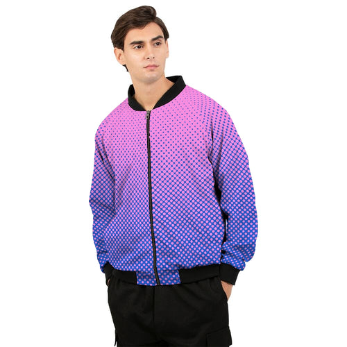 Men's Colorfull Dots Gradient Bomber Jacket