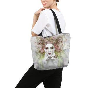 Nereid Art Portrait Canvas Zip Tote Bag