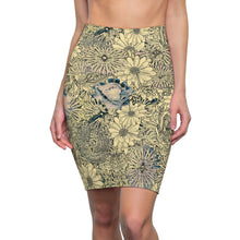 Load image into Gallery viewer, Women's Vintage Floral Pencil Skirt