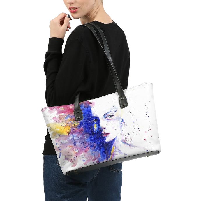 Art Portrait Stylish Tote Bag