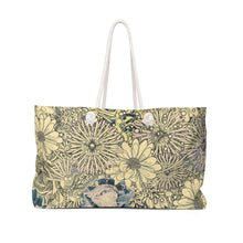 Load image into Gallery viewer, Floral Weekender Tote Bag
