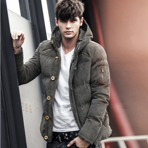 Windproof Cotton Hooded Jacket