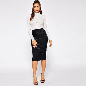 Bodycon Knee Length Skirt
