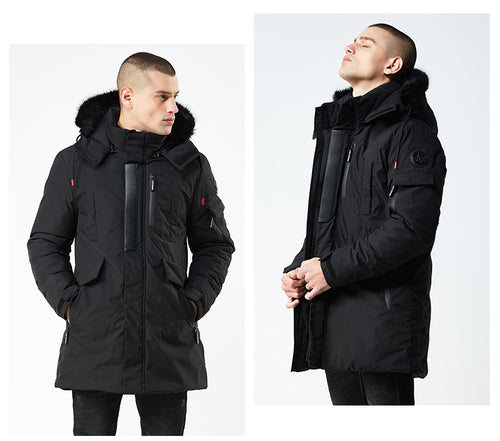 Windproof Hooded Cotton Padded Parka