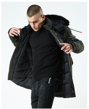 Load image into Gallery viewer, Windproof Hooded Cotton Padded Parka