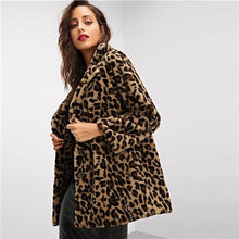 Load image into Gallery viewer, Leopard Single Breasted Coat