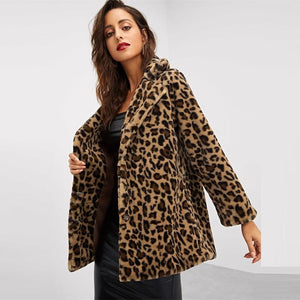 Leopard Single Breasted Coat