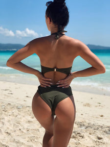 Mesh Strapless Backless Monokini - zoviana
