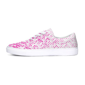 Pink Dots Lace Up Canvas Shoes