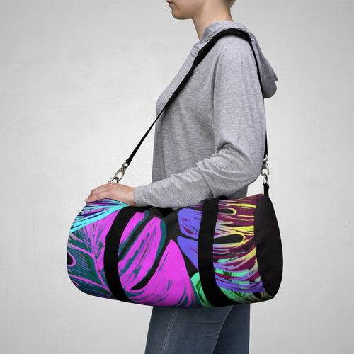 Colorfull Jungle Leaves Duffel Bag