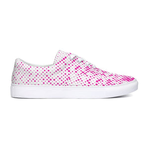 Pink Lace Up Canvas Shoes
