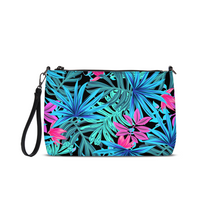 Load image into Gallery viewer, Blue Jungle Leaves Daily Zip Pouch
