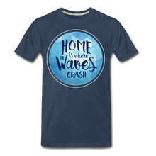 Load image into Gallery viewer, Men's Ocean Waves Premium Organic T-Shirt - zoviana