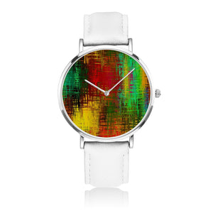Abstract Colorfull Genuine Leather Watch