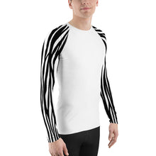 Load image into Gallery viewer, Men's Zebra Sleeve Rash Guard