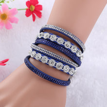 Load image into Gallery viewer, Multilayer Crystal Rhinestone Wrap Bracelet - zoviana